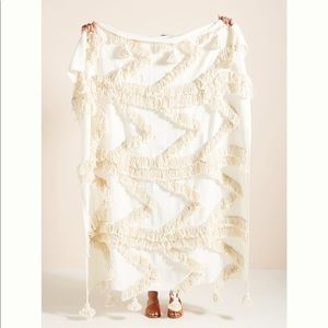 ANTHROPOLOGIE Fringe Bay Throw Blanket